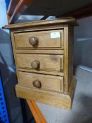Small Pine Chest of Three Drawers