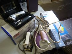Electrical Items; Irons, Razor, Extension Lead, et