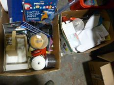 Two Boxes of Stationery, Desktop Items, Envelopes,