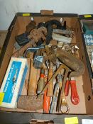 Assorted Tools and a Milling Cutter Chuck