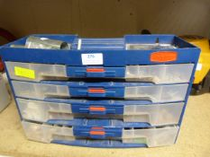 Four Drawer Tidy Box with Assorted Plugs, Flux and