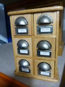 Small Set of Six Spice Drawers