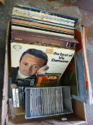 Box of LPs, CDs and Cassettes