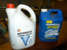 Two Part Used Bottles Holtz Anti-Freeze and Total