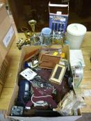 Miscellaneous Items; Cutlery, Metalware, Clock, Ca