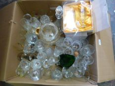 Large Quantity of Drinking Glasses and Other Glass