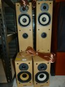 Two Pairs of Tannoy MX Speakers in Light Maple