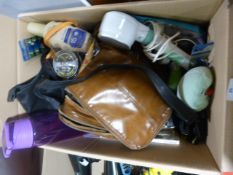 Box of Towels, Accessories, Bags, etc.