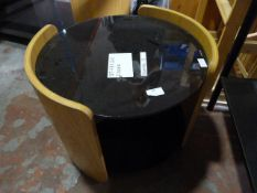 *Small Round Glass Topped Coffee Table