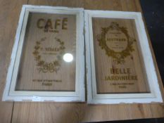 Two Glazed Cafe Display Advertising Panels