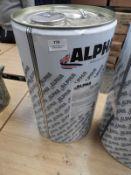 *25L of Alpha AN189 Clear Sealant