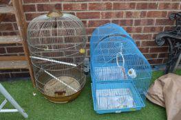 Three Budgerigar Cages