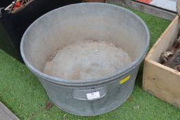 Three Vintage Galvanised Wash Tubs