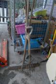 Vintage Wooden Handled Garden Tools, Rakes, Forks,