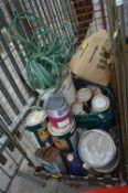 Cage Lot of Fence Paint, etc.