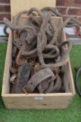 Vintage Rope, Leather Straps, etc.