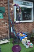 Decorative Purple Metal Plant Stand