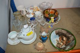 Collection of Glasses, Pottery and Decorative Plat