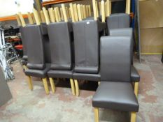 *36 Dark Brown Upholstered Restaurant Chairs