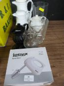 *Igenix Hand Mixer, Glass Jug, Coffee Jugs, etc.