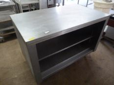 Stainless Steel Table with Shelf 120cm