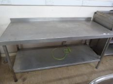 Stainless Steel Table with Shelf 66x29x33""