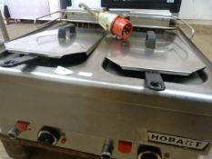 Hobart Double Table Top Fryer 3 Phase
