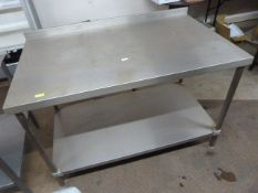 132cm Stainless Steel Table