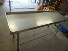 200cm Stainless Steel Table