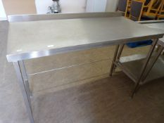"Stainless Steel Table 53""x25.5""x38"""