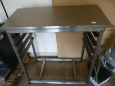 Stainless Steel Table with Tray Rack and Sloped To