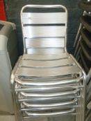 * x4 Stacking chairs very good condition, ideal for outdoor sitting.