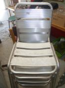 * x4 Stacking chairs very nice condition, ideal for outdoor sitting.