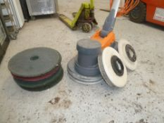 * Taski ergodisk floor cleaner, very good condition, working and includes several spare scrubber