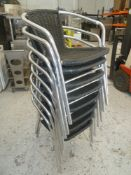 * x8 Outdoor chairs, good condition.