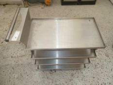 * St Steel 4 tier trolley on castors, very clean condition.