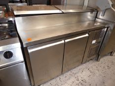 *Blizzard 2 door saladette top refridgerator, good condition direct from a national chain (