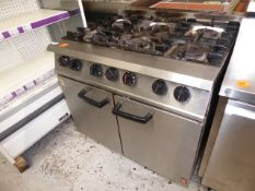 *Falcon 6 burner 2 door gas oven - complete in good condition direct from national chain (