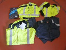 Five Boiler Suits (Various Sizes and Colours)