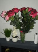*Three Artificial Flowers