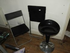 *Gas Lift Bar Stool and Two Folding Chairs