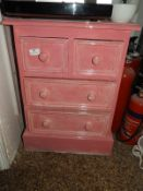 *Painted Pine Two over Two Chest of Drawers