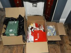*Three Boxes Containing Rollers, Hairdresser's Gowns, Colour Charts, etc.