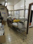 *Craven Stainless Steel Adjustable Four Tier Shelf Unit 150x30x185cm