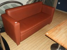 *Pair of Faux Leather Two Seat Sofas