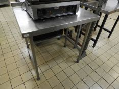 *Stainless Steel Preparation Table with Upstand to Rear 90x70cm