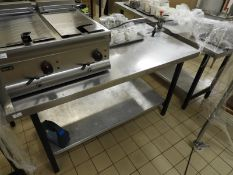 *Stainless Steel Preparation Table with Undershelf and Upstand to Rear 76x150cm