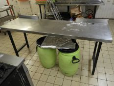 *Stainless Steel Preparation Table with Upstand to Rear 200x60cm