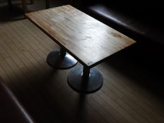 *Rectangular Low Reception Table with Butchers Block Style Top