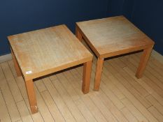 *Pair of Light Wood Occasional Tables